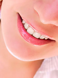 Gereinigte Zähne